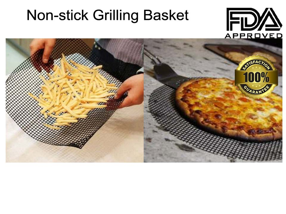 Handy baking mesh sheet ideal for pizza, chips and garlic bread