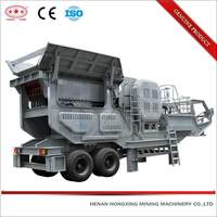 Portable tracked small recycling aggregate mobile rock crusher