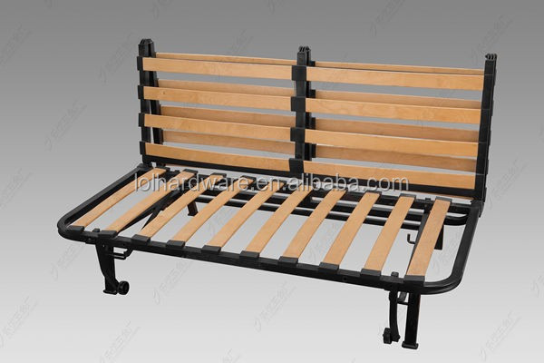 Hot Sell Metal Folding Sofa Bed Frame With Wooden Flat