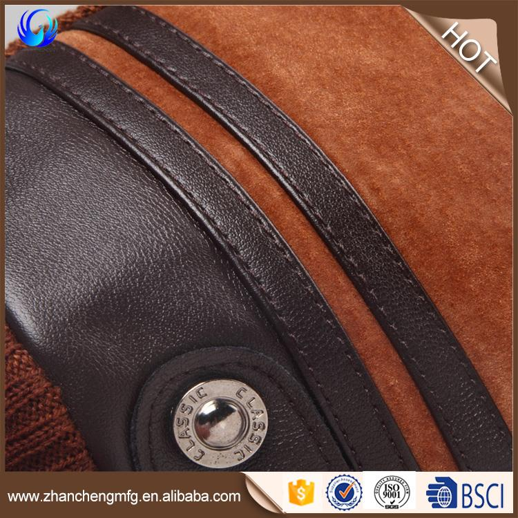Winter suede glove acrylic lining with factory price wholesale