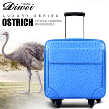 High-end brand Factory customized ostrich leather luggage for travel