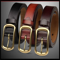 new product widely used better-quality Men genuine leather rubber v-belt