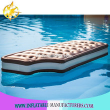 brown chocolate inflatable floating row,chocolate air mattress,chocolate floating mat