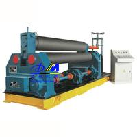 W11 series symmetric 3 roller steel sheet plate roll bending machine, profile roll machine