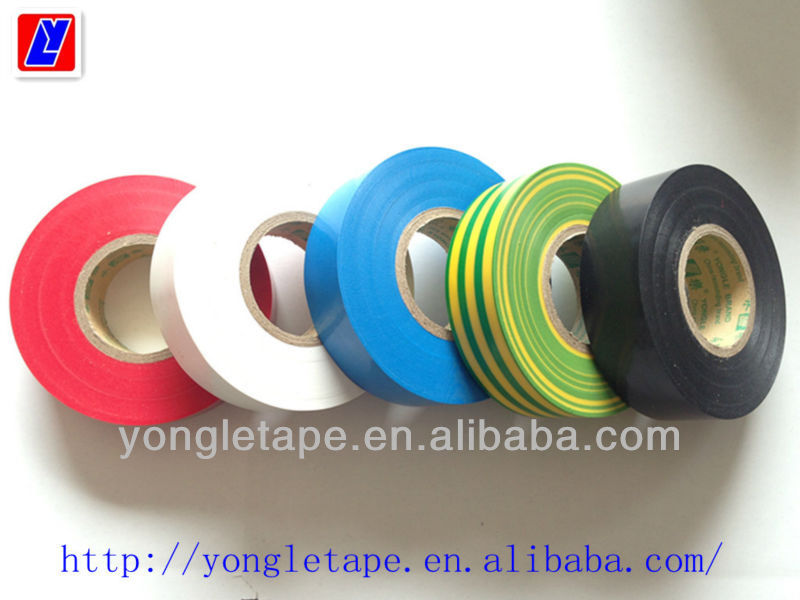 yellow/green pvc electrical tape/style Temflex General Purpose Vinyl Electrical Tape/UL and CSA requirements approved pvc tape