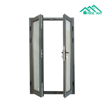 Double glass exterior aluminium out swing patio doors housing french doors