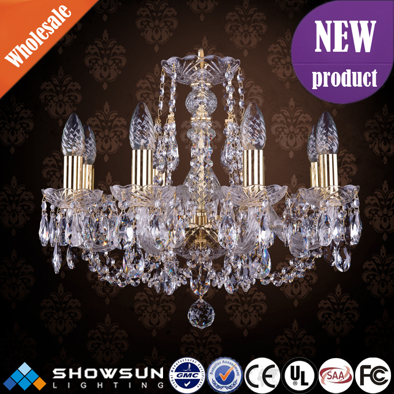 Hand-made bohemia crystal chandelier wedding stage decoration