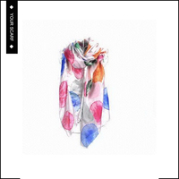 Hot selling good quality customized soft 100% silk circle design printed scarf