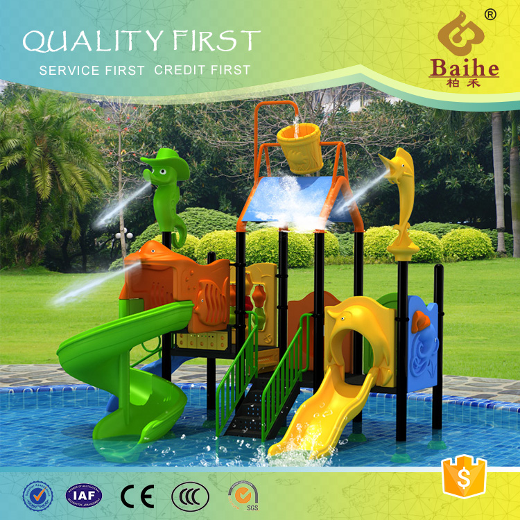 Durable using low price amusement park plastic floating water slide