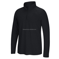 Black long sleeves man moisture wicking cool polo t-shirt