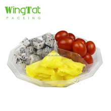 Custom Design Plastic Clear Fruit Tray with 3 grids
