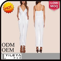 latest fashion mutil colors deep v sexy ladies jumpsuit and romper