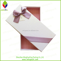 Ribbon Decorative Bow Tie Gift Packing Paper Box with a Lid