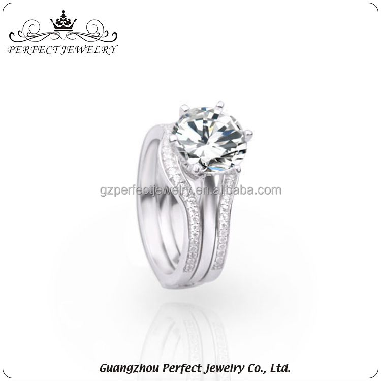 Factory customized high-end latest design charming couple wedding 925 sterling silver rings