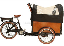 europe family use 3 wheel pedal assisted cargo electric reverse trike for sale
