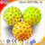 2017 online wholesaler massage ball with color particles fitness ball made of ECO-friendly PVC