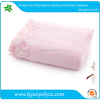 Decicate and thick lace pattern 100% Cotton bath towels