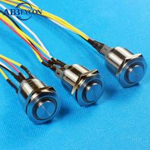 19mm 12V blue Led black Push Button Angel Eye Metal Momentary car Switch
