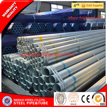 ASTM A53 hot dip galvanized steel pipe for fence post made in Tianjin