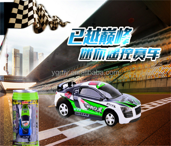 Car Racing Coke Can RC Car Door Baby Toy Electric Radio Controlled Toys Kit With Light