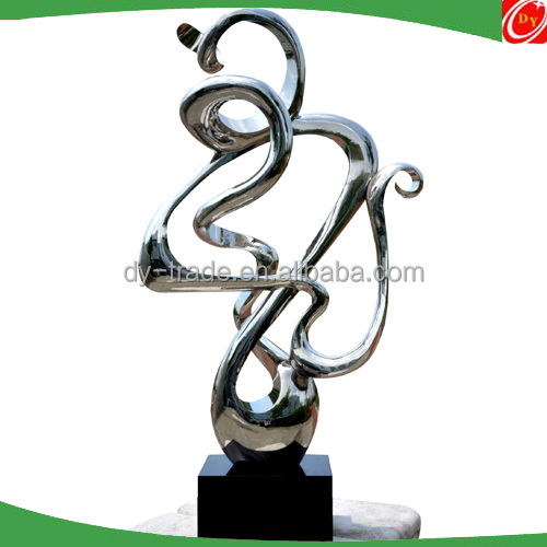 Abstract Contemporary Polished Metal Sculpture