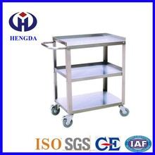 Detachable Three-layer Stainless Steel Ingredients Dining Cart