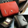 Mens Zipper Leather Wallet Card Clutch Billfold Purse