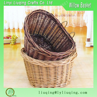 2016 fashionable red wine color Wicker shopping Bike Basket for shopping