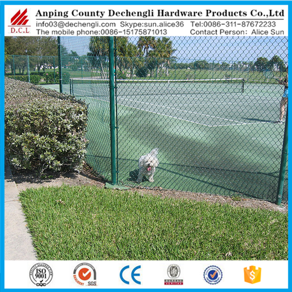 6 foot 9 gauge pvc coated chain link fence price