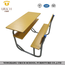Student chair and desk attached double school desk with stools school desk and chair classroom study furniture