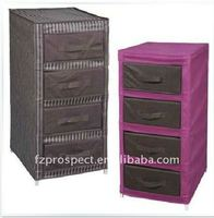 Living room non woven 4 drawers clothing cabinets