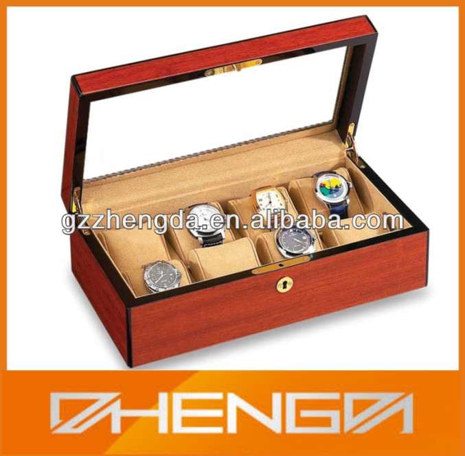 HOT SALE customized made-in-china 8 slots wooden gift boxes for watches (ZDS-F151)