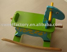 High quality kids wooden rocking horse toy