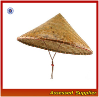 ZT45 Wholesale India coolie straw hat cheap 100% bamboo unisex sun straw hat for sale