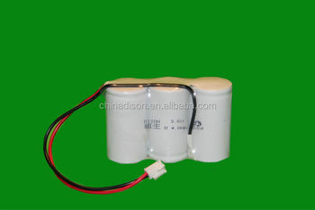 high temperature +70 degree 3.6v D type 4.0ah emergency light nicad batteries