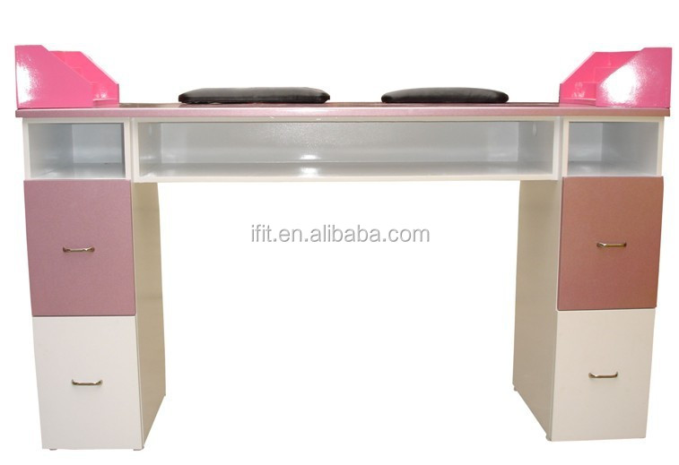European pink double maincure table