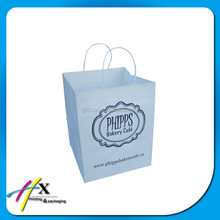 Recycled pastel color cardboard paper printing shopping bag with your own logo
