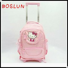 The latest Hello kitty kids detachable trolley school bag
