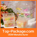 High quality transparent square clear plastic candy box