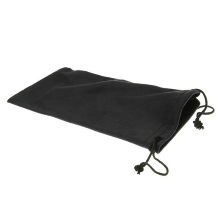 Plain Black Drawstring Cleaning Glasses Pouch