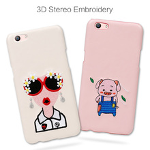 "Wholesale Fashion Creative 3D Embroidery Case For Xiaomi redmi 4 case 5.0""PU Leather Phone Case Embroidery Back Cover"