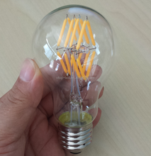 good quality a60 16pcs filament led inside clear glass e27 edison bulbs