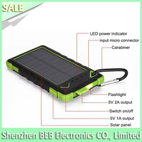Portable mobile phone solar charger for 2015 new products 8000mah solar charger