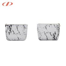 Handmade stylish women marble printed leather clutch bag