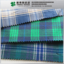 100 cotton 131gsm 57/58 yarn dyed check chambray fabric for shirt trousers