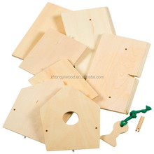 FSC and BSCI diy wooden bird house kit
