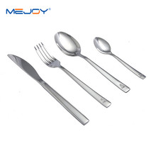 Wholesale flat shape stainless steel german flatware cutlery set