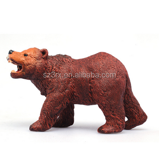 Design Brown Bear Plastic Wild Animals Toys Set/Simulation PVC Forest Animal Stuffed Figure Jungle Animals