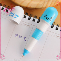 Best selling 2016 YES CUSTOMIZED wholesale stationery luxury plastic mini ball pen pills shaped ball-point pen with ink