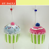 4inch vivid food xmas tree ornamnet wholesale hanging cupcake christmas for kids gifts